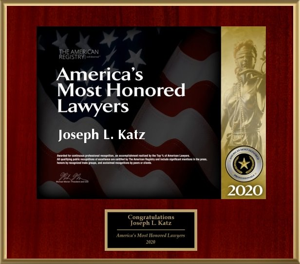 America's Most Honored Lawyers Awarded to Joe Katz
