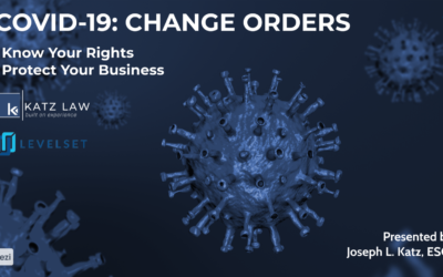 COVID-19: Change Orders & Construction Contracts